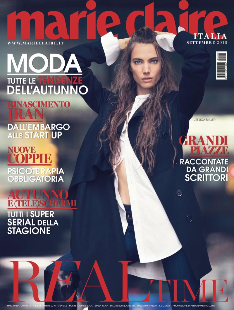 Jessica Miller on Marie Claire Italy September 2016 Cover