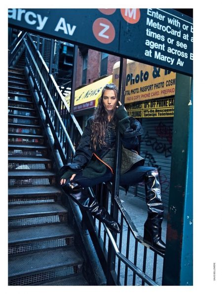Jessica Miller Models Street Chic Style for Marie Claire Italy