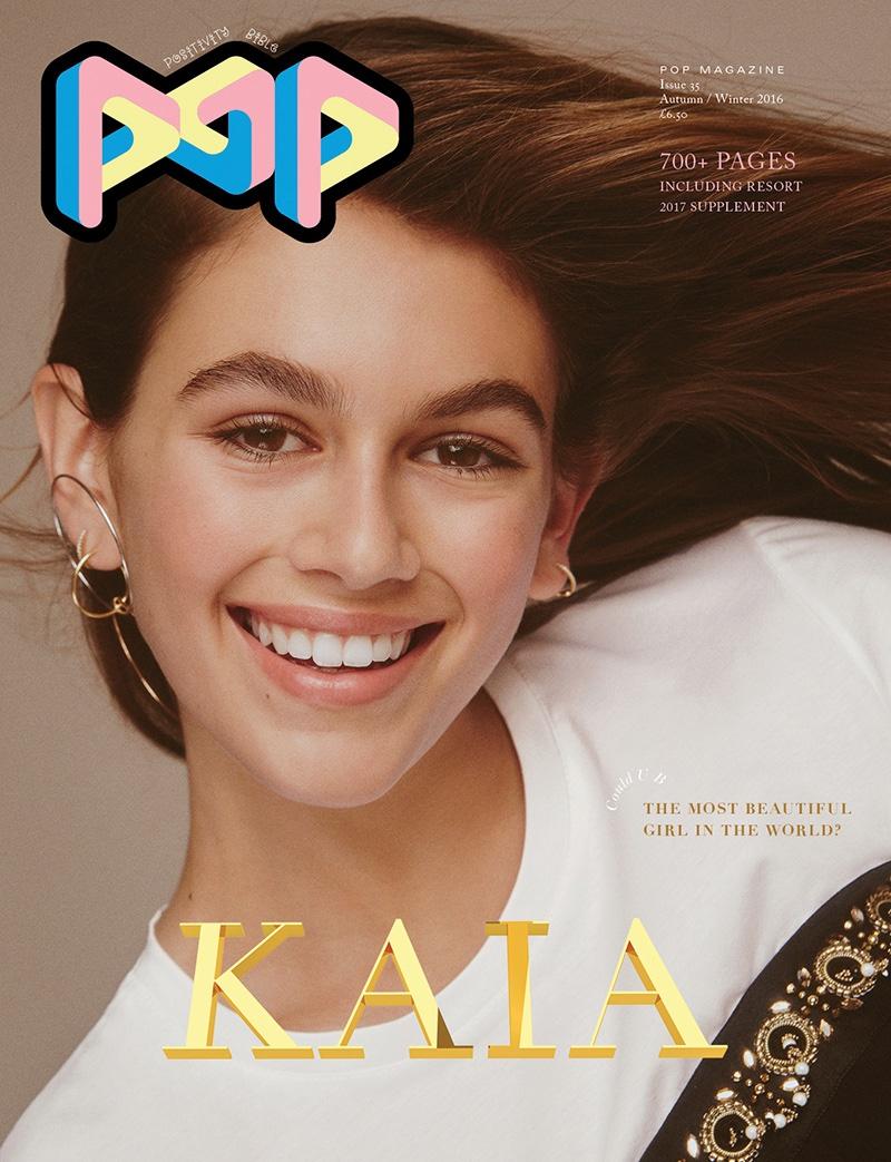 Kaia Gerber on POP Magazine Fall-Winter 2016 Cover