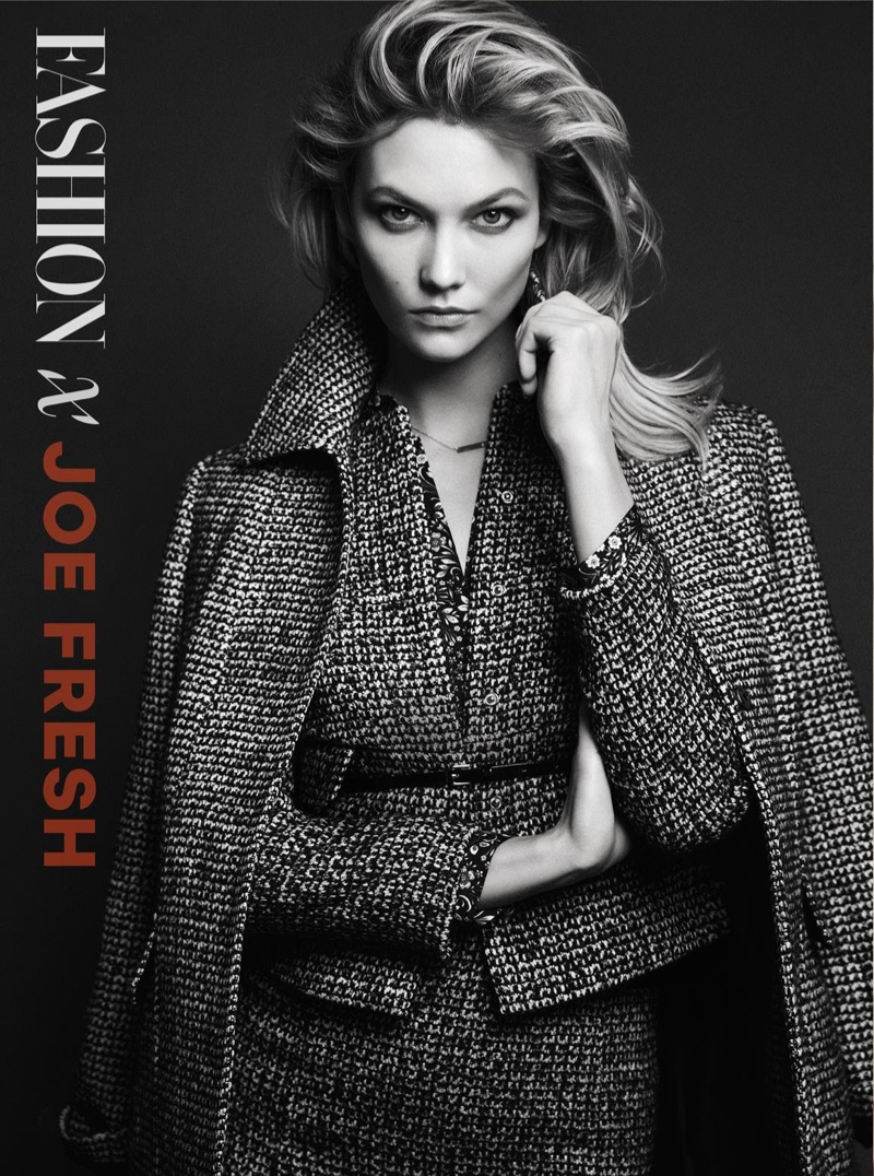 A Joe Fresh ambassador since the spring 2015 season, Karlie Kloss poses in looks from the Canadian brand for the shoot