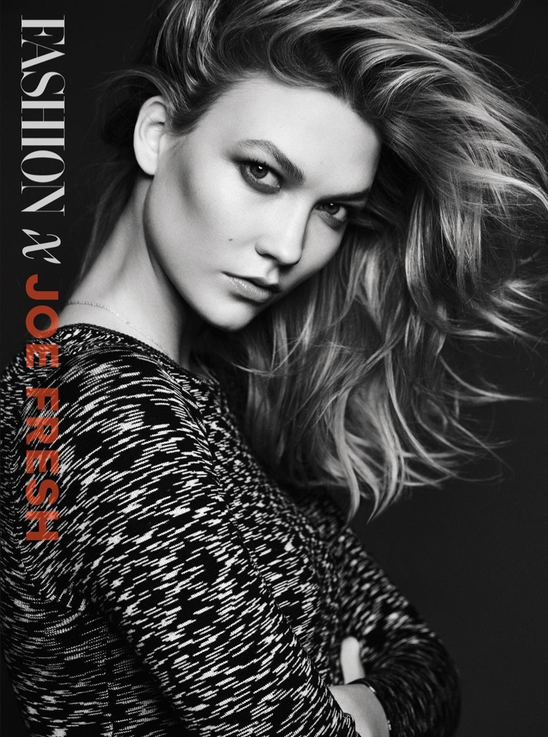 Karlie Kloss shows off a hairstyle featuring tousled waves