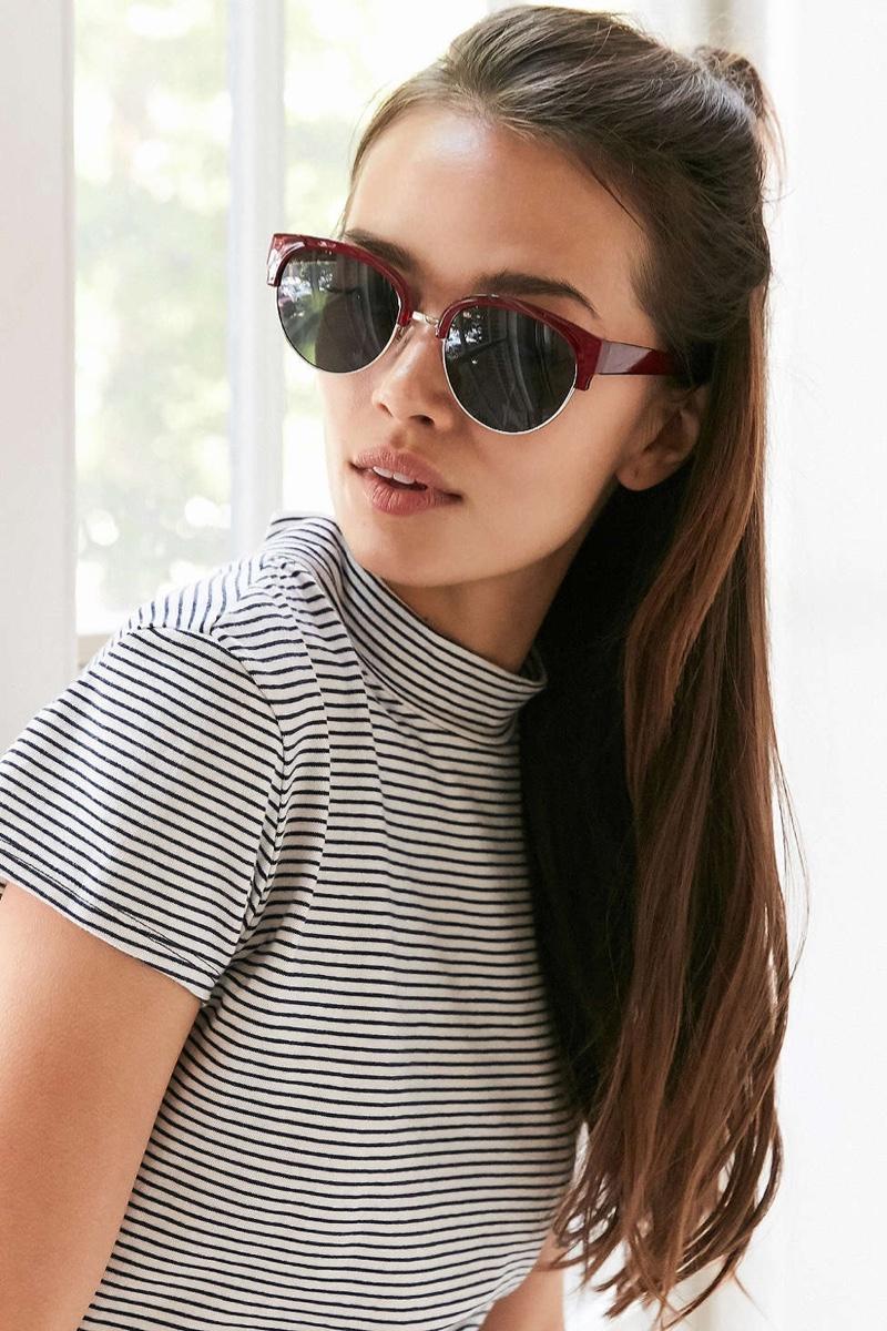 Urban Outfitters Kathleen Half Frame Sunglasses