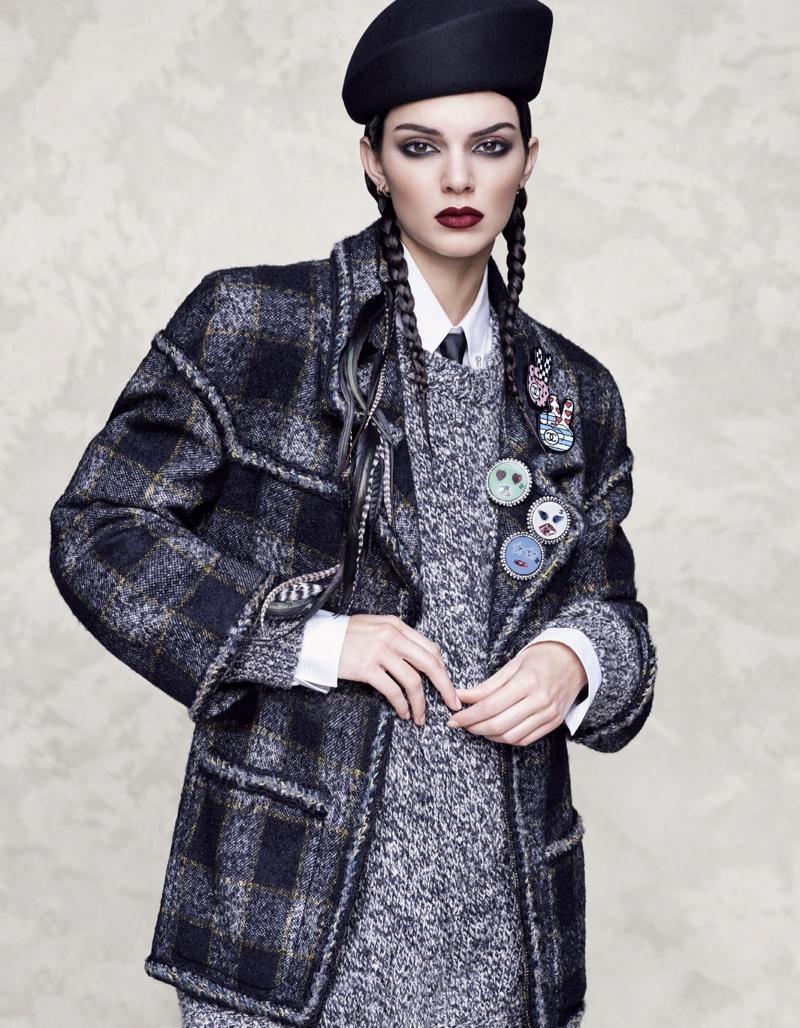 Kendall Jenner Models Statement Coats in Vogue Japan