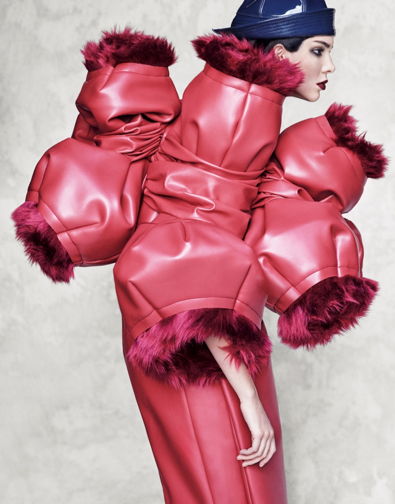 Kendall Jenner wears the avant garde designs of Comme des Garcons