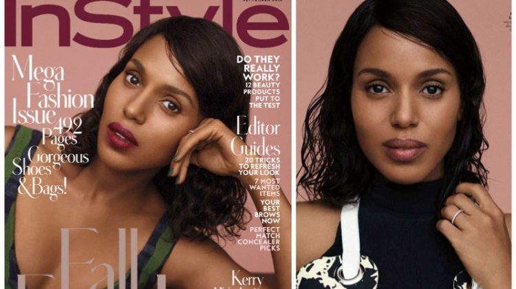 Kerry Washington Serves Fall Beauty Inspiration for InStyle