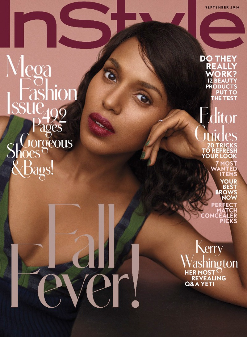 Instyle Magazine Us: Kerry Washington Serves Fall Beauty Inspiration For InStyle