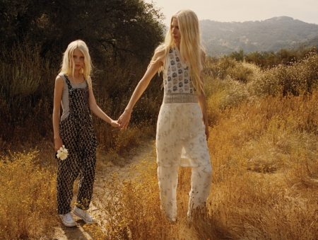 Kirsty Hume & Daughter Violet Pose in Boho Looks for Malibu Magazine