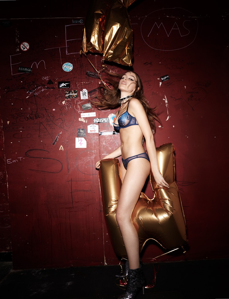 L'Agent by Agent Provocateur fall 2016: Odessa bra and panty in denim