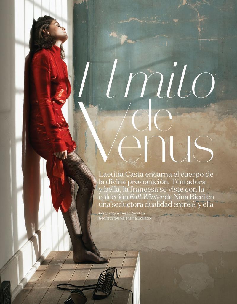 Laetitia Casta stars in Vogue Mexico's August issue