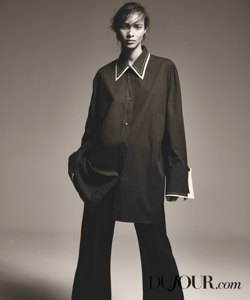 Lais Ribeiro wears Celine top and pants