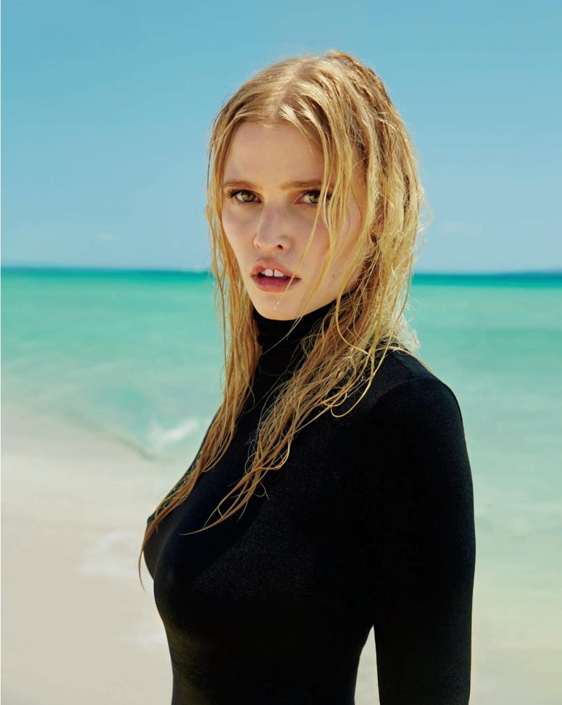 Lara Stone photographed by Sebastian Faena for The Daily magazine.