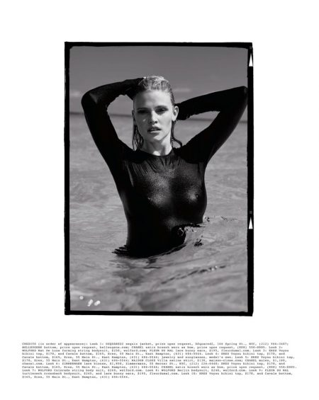 Bombshell Alert! Lara Stone is a Beach Babe for The Daily Cover Shoot