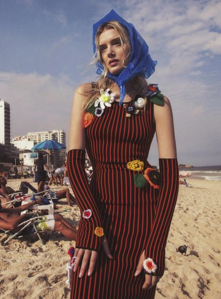 Lily Donaldson Brings the Fall Collections to Rio for Vogue Australia