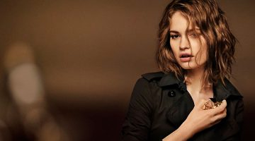 Lily James Strips Down for 'My Burberry Black' Campaign