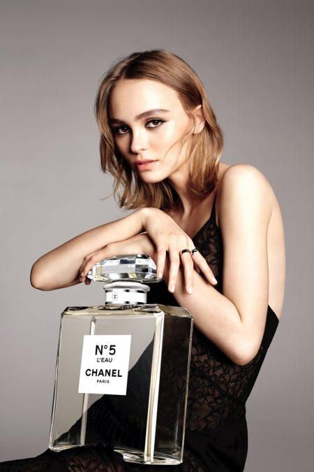 Lily-Rose Depp Stuns in Chanel No.5 L'Eau Campaign