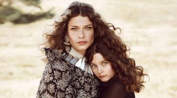Louise Pedersen & Her Daughter Are Boho Beauties in ELLE Denmark