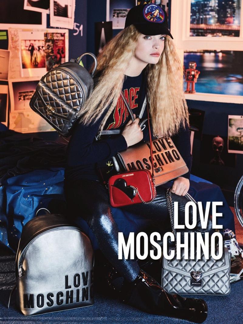 Ella Wennstrom stars in Love Moschino's fall-winter 2016 campaign