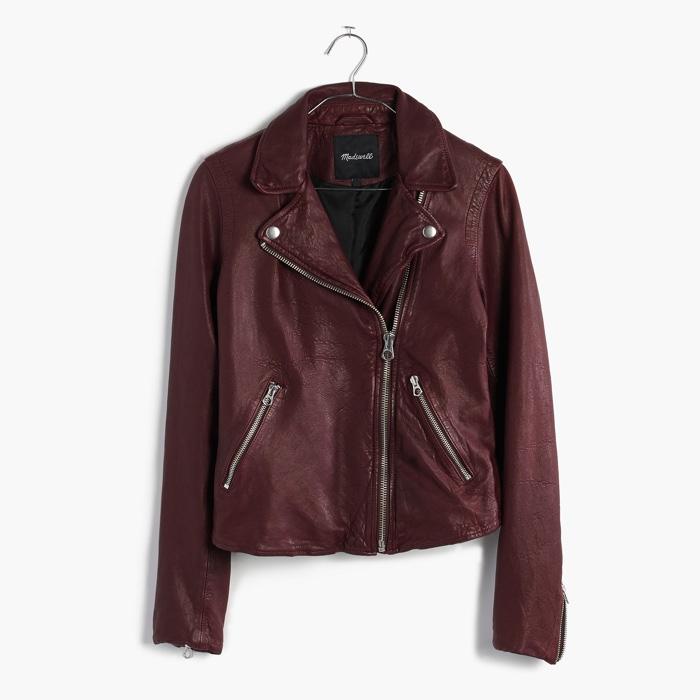 Madewell Washed Leather Biker Jacket