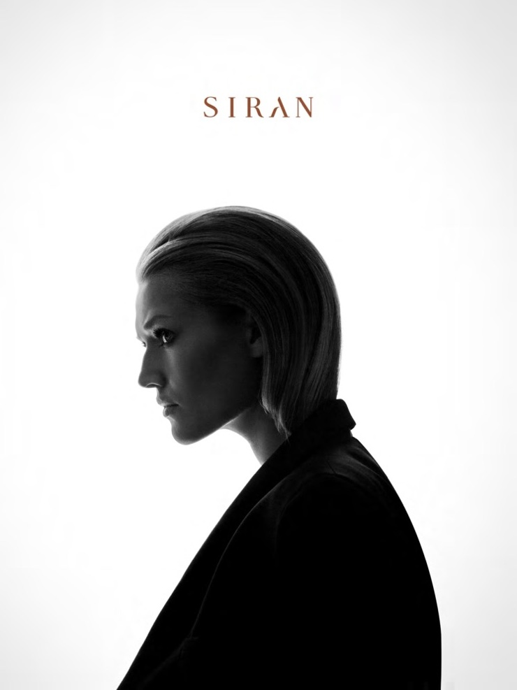 Toni Garrn poses for Maison Siran's fall-winter 2016 collection