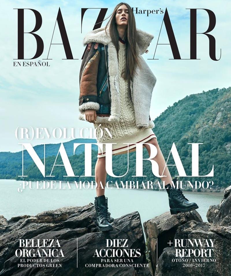 Marine Deleeuw on Harper's Bazaar Mexico August 2016 Cover