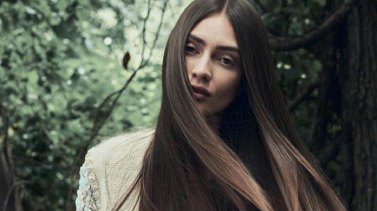 Marine Deleeuw Wears Enchanting Looks for Harper's Bazaar Mexico