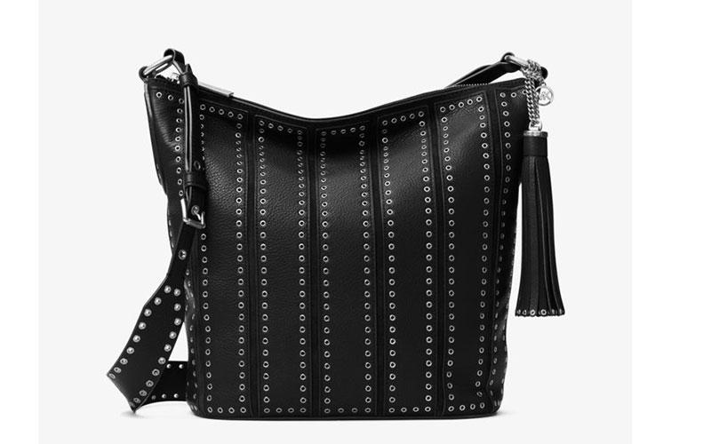 MICHAEL Michael Kors Brooklyn Large Grommet Leather Feed Bag