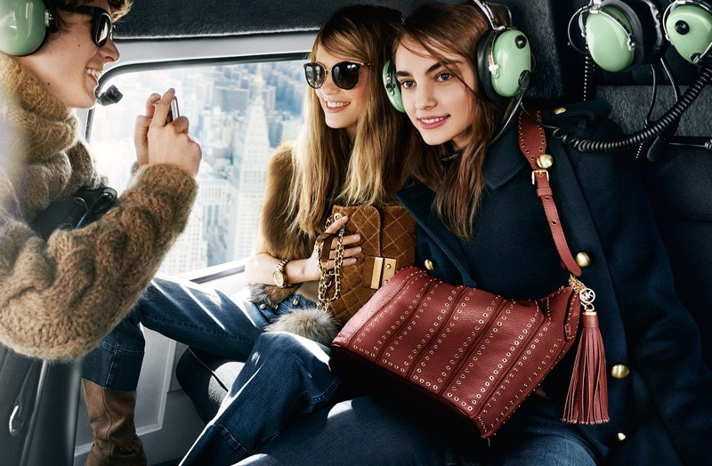 Emmy Rappe and Romy Schonberger star in Michael Michael Kors' fall 2016 campaign
