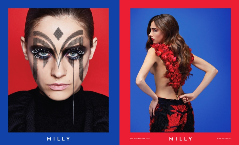 Milly features bold beauty looks in fall-winter 2016 campaign