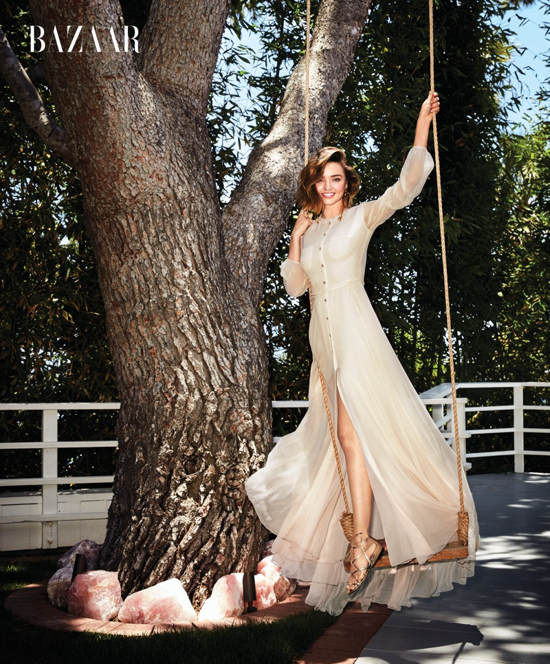Miranda Kerr stars in Harper's Bazaar's September issue