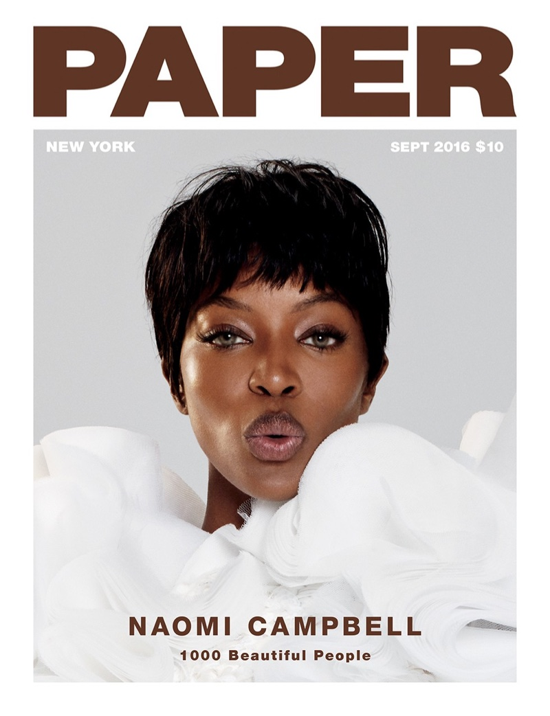 Naomi Campbell on Paper Magazine September 2016 Cover