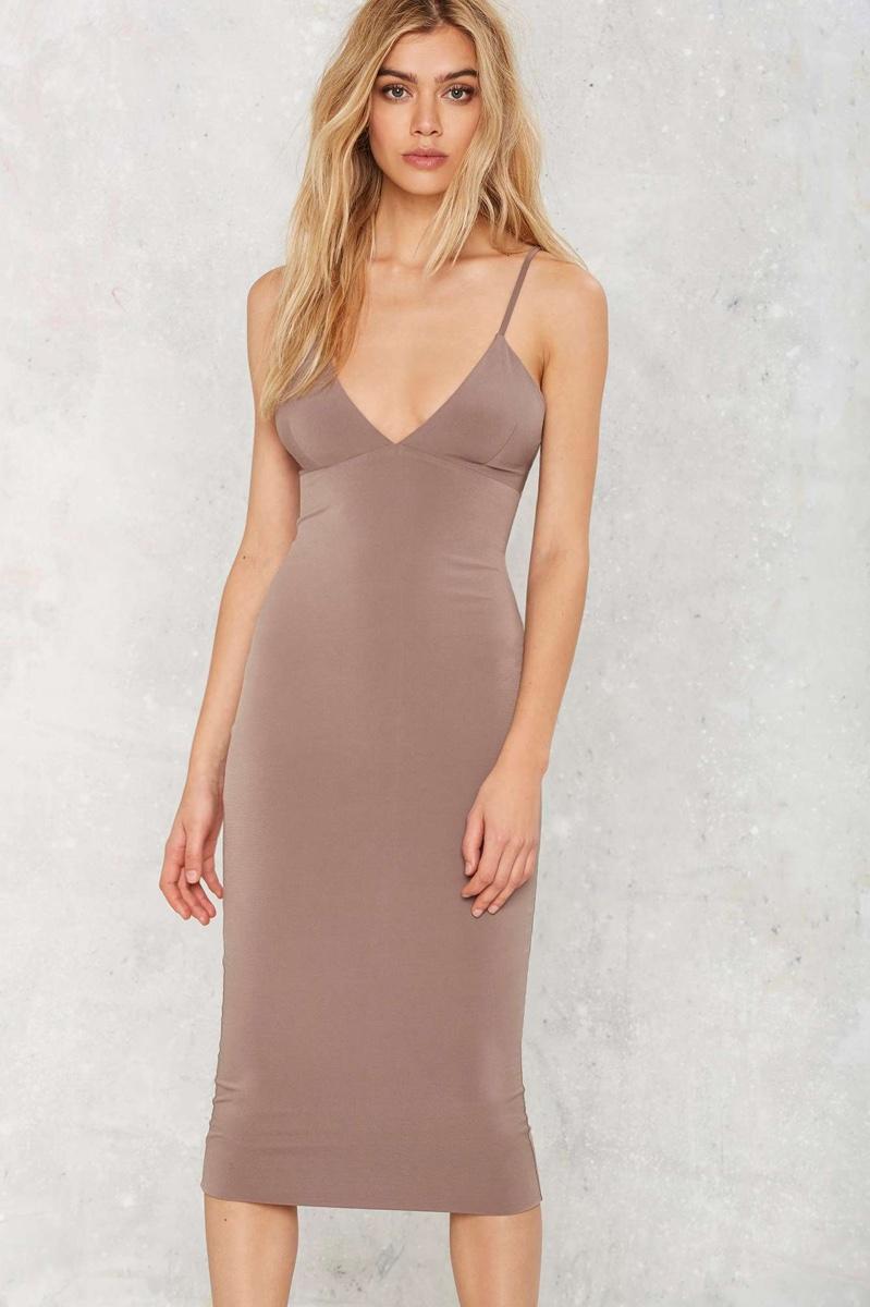 Nasty Gal on Sleek Midi Dress