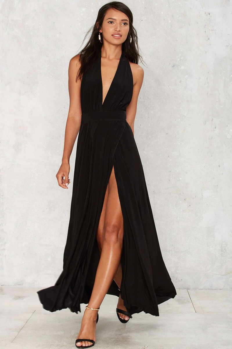 Nasty Gal Slit This One Out Maxi Dress