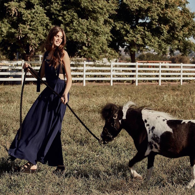 Nasty Gal Stay Overall Maxi Dress, Nasty Gal Pour the Shine Bra Top and Jeffrey Campbell Ximeno Leather Flatform