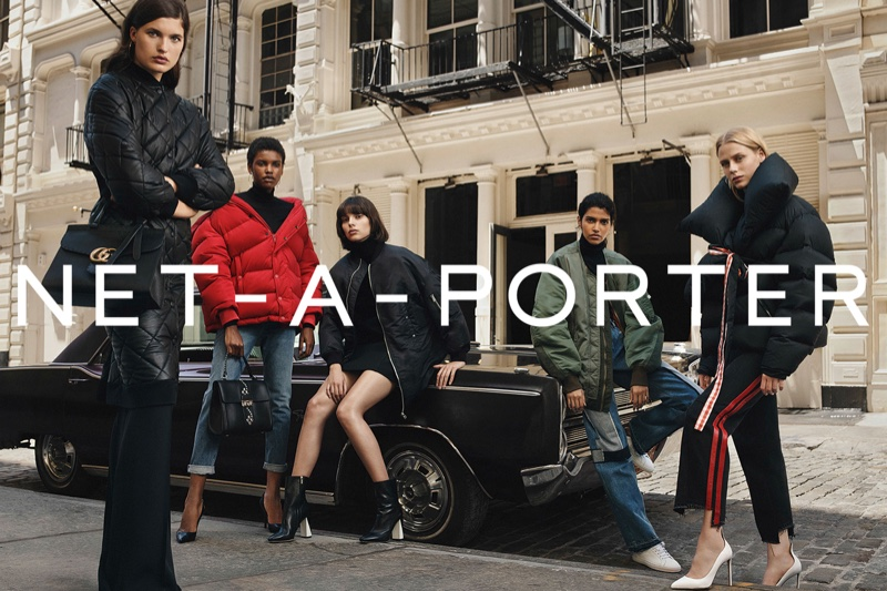 Net-a-Porter taps models Charlee Fraser, Amilna Estevao, Sofie Hemmet, Pooja Mor and Julia Van Os for fall-winter 2016 campaign