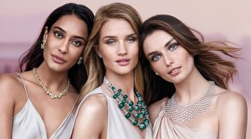Rosie Huntington-Whiteley Sparkles in New Jewelry Ads