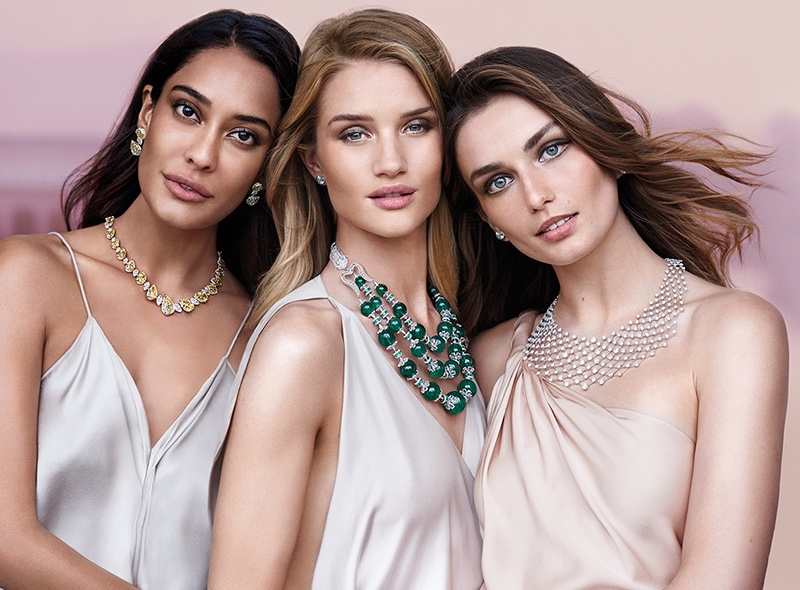 Lisa Haydon, Rosie-Huntington-Whiteley and Andreea Diaconu star in Nirav Modi's fall-winter 2016 campaign