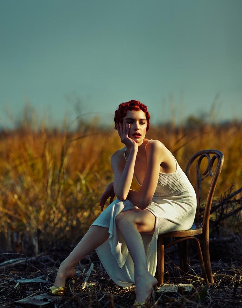 Cece Yost models Jill Stuart dress