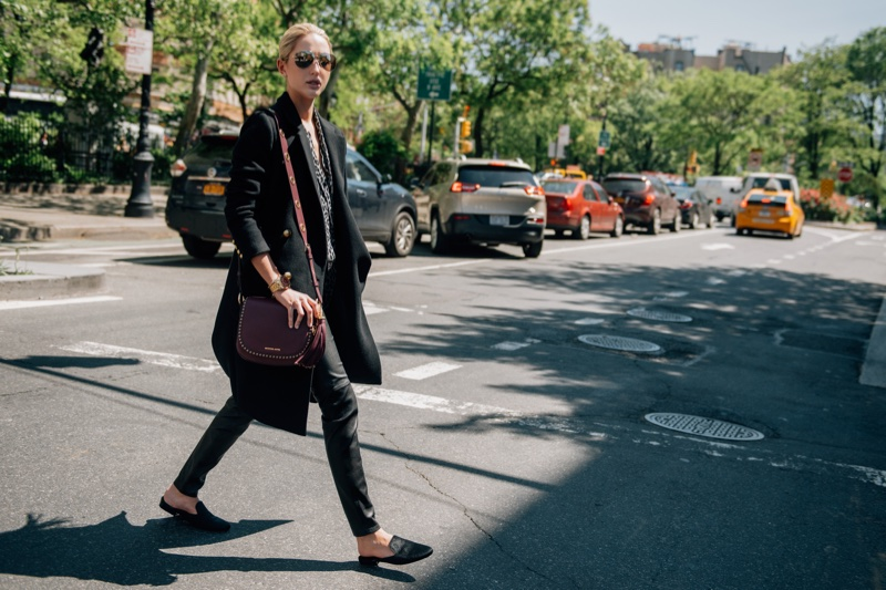 Princess Olympia of Greece wears Michael Kors Brooklyn handbag