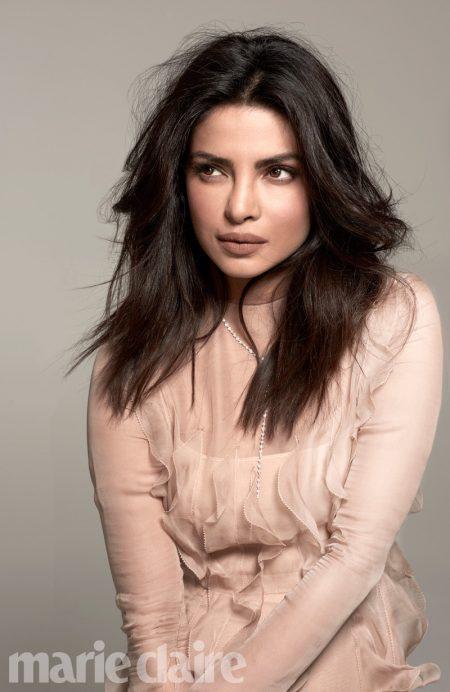 Priyanka Chopra Stars in Marie Claire, Talks 'Baywatch' Role