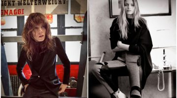 Abbey Lee Kershaw & Freja Beha Erichsen Front Rag & Bone's Fall Campaign