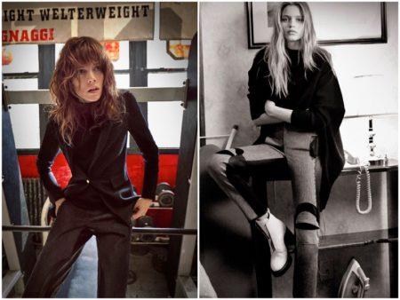 Abbey Lee Kershaw & Freja Beha Erichsen Front Rag & Bone's Fall Campaign
