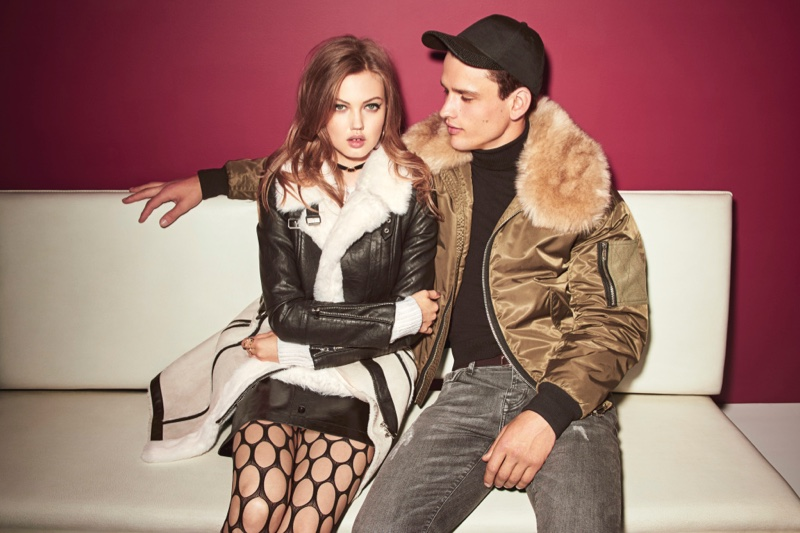 Lindsey Wixson and Simon Nessman star in River Island's fall-winter 2016 campaign