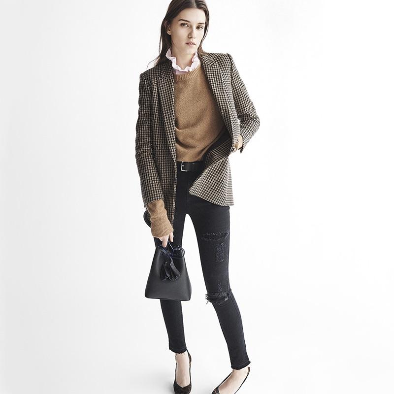 Sandro Fall 2016: oversized blazer, sweater and pants