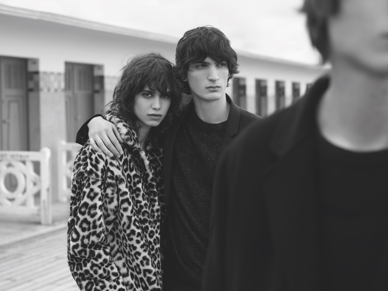 Mica Arganaraz and Luca Lemaire star in Sandro's fall-winter 2016 campaign