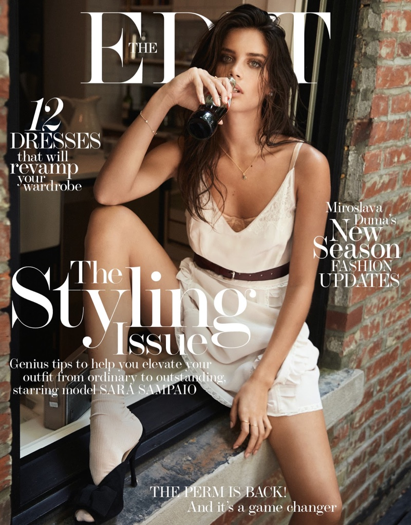 Sara Sampaio on The Edit August 18, 2016 Cover