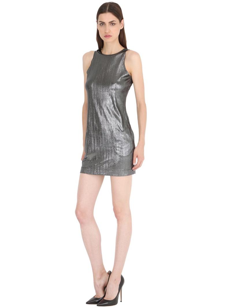 Siran Metallic Ribbed Dress