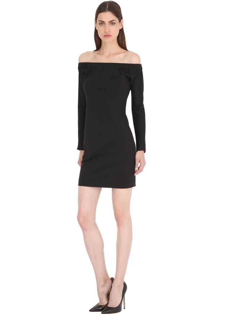 Siran Off-the-Shoulder Wool Jersey Dress