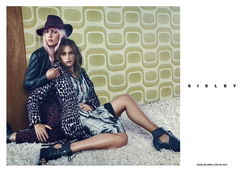 Amber and Yasmin Le Bon star in Sisley's fall-winter 2016 campaign