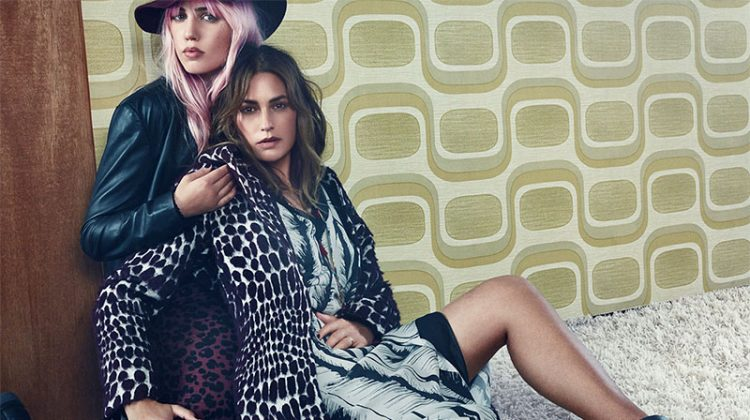 Yasmin & Amber Le Bon Serve Rock & Roll Vibes in Sisley's Fall Campaign