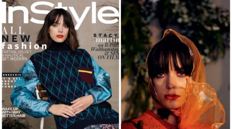 Stacy Martin Poses for InStyle UK, Talks Dealing with the Press